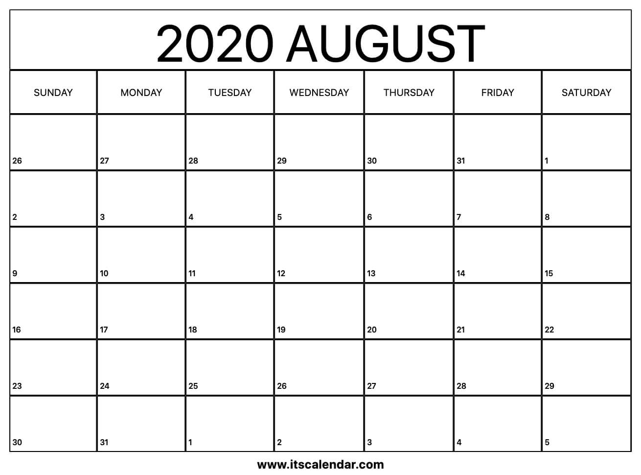 This is a picture of Witty Printable August 2020