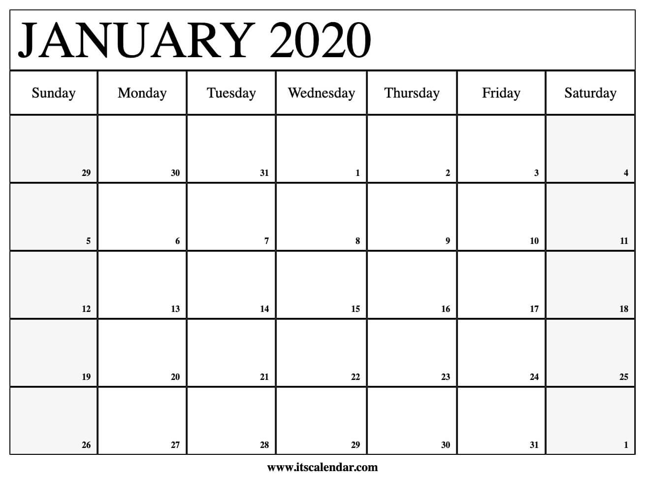 Free Printable Calendar 2020 Bill Paying Monthly | Example ...  |Monthly Callender January 2020