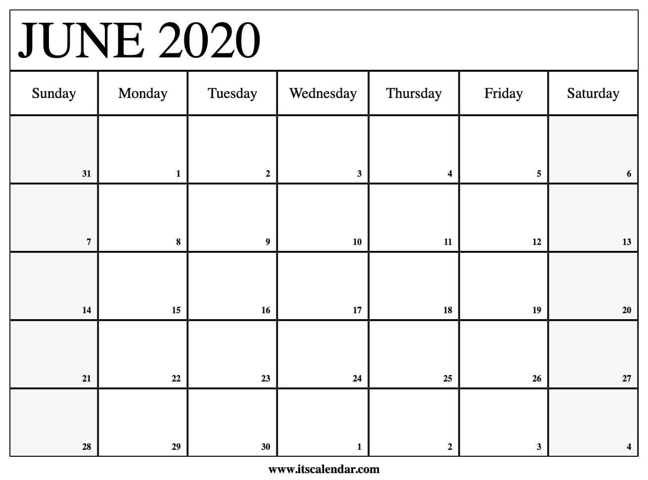 It is a graphic of Soft Printable June 2020