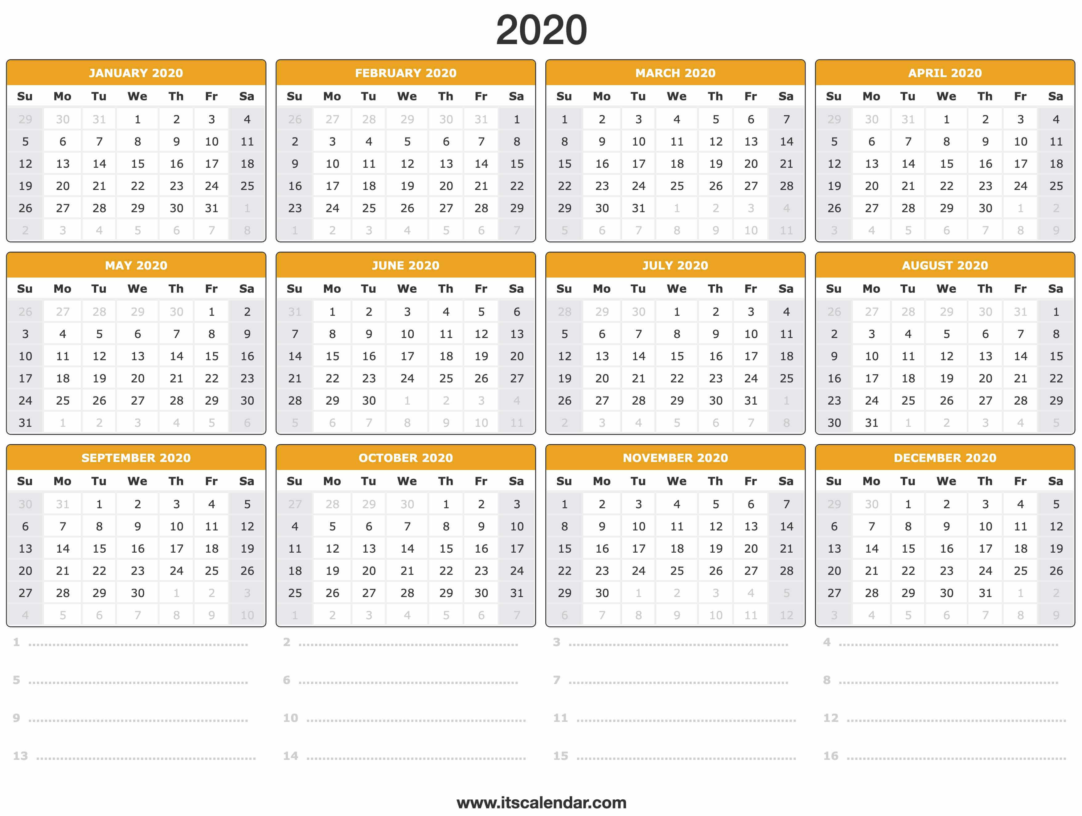 It's just a picture of Nerdy Printable Calendars for 2020